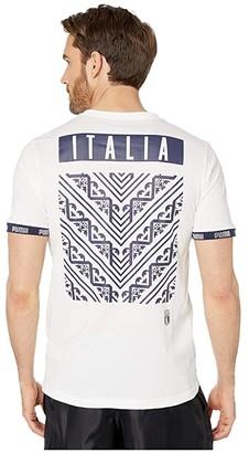 Puma FIGC FTBL Culture Tee White) Men's T Shirt