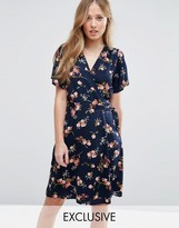 Vero Moda Floral Printed Wrap Dress