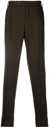 Pt01 Tapered Wool Blend Trousers