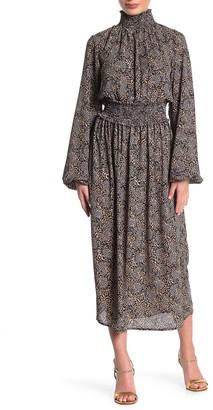 Abound Smocked Neck Leopard Print Maxi Dress (Regular & Plus Size)