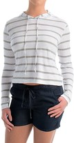 Allen Allen Hooded Striped Shirt - Long Sleeve (For Women)