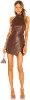 Camila Coelho Mia Leather Mini Dress