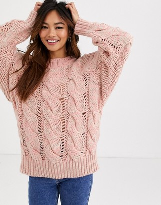 ASOS DESIGN lofty knit cable sweater