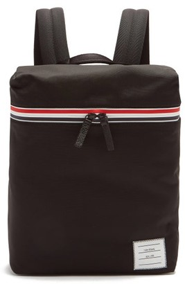 Thom Browne Tricolor-striped Small Technical-canvas Backpack - Black