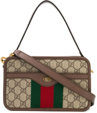 Gucci Monogram Print Cross Body Bag