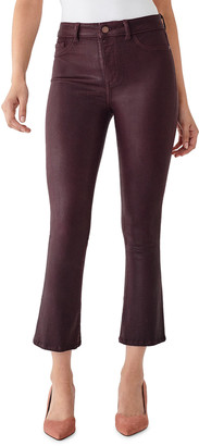 DL1961 Bridget Cropped High-Rise Boot-Cut Jeans