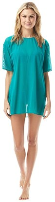 Vince Camuto San Remo Shades Mesh T-Shirt Cover-Up (Riviera) Women's Swimwear