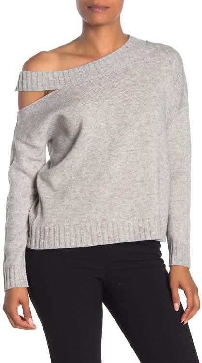 Vince Shoulder Cutout Wool & Cashmere Pullover
