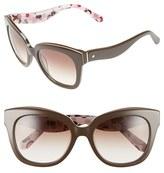 Kate Spade Women's Amberly 54Mm Cat Eye Sunglasses - Brown Nude