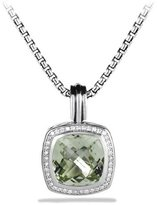 David Yurman Albion Pendant with Prasiolite and Diamonds