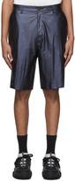 Robert Geller Blue The Shiny Shorts