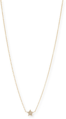 Ef Collection Diamond Star Charm Necklace in 14K Yellow Gold