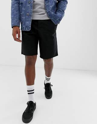 Asos Design DESIGN relaxed chino shorts in black