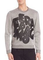 Salvatore Ferragamo Long Sleeve Graphic Sweatshirt