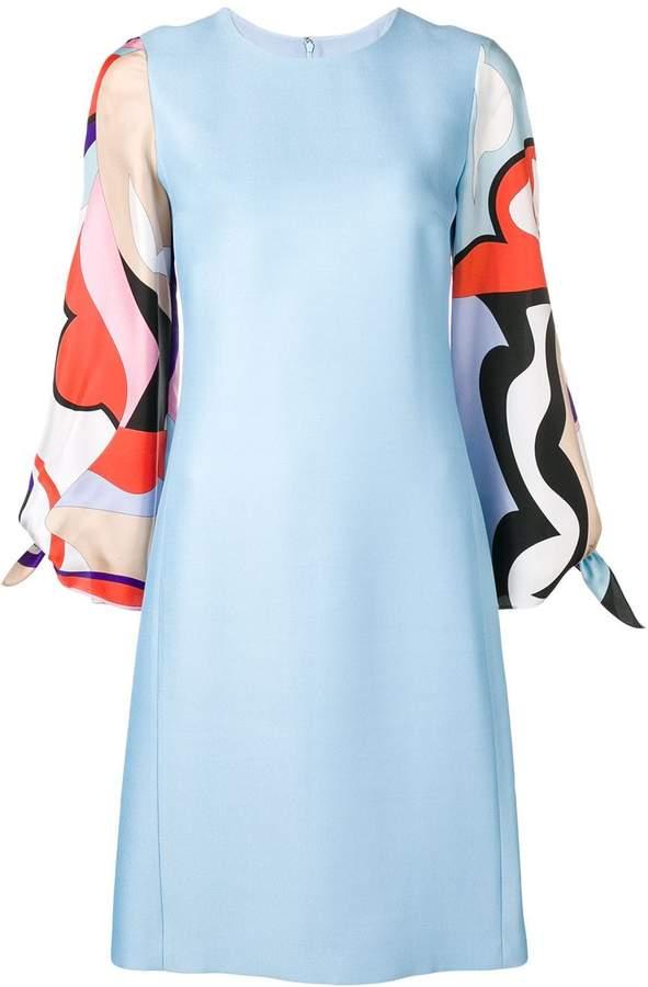 Emilio Pucci Vallauris Print Sleeve Knee-Length Dress