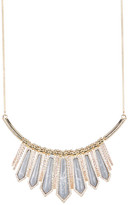 Jessica Simpson Embellished Semi-Precious Stone Collar Statement Necklace