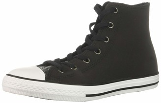 Converse Girls' Chuck Taylor All Star Glitter Leather High Top Sneaker