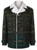 Valentino Aztec Shearling Jacket