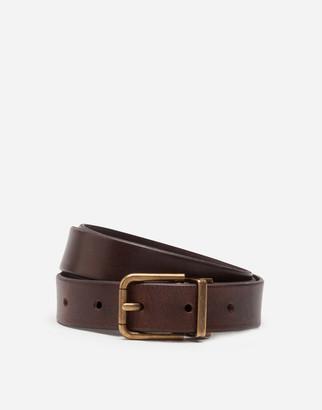 Dolce & Gabbana Split-Grain Leather Belt