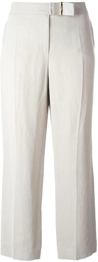 Salvatore Ferragamo cropped tailored trousers