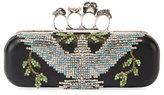 Alexander McQueen Crystal Dove Knuckle Box Clutch Bag