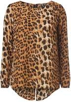 Izabel London **Multi Brown Leopard Top