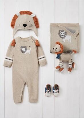 Elegant Baby Lion Romper, Hat, Blanket, Booties & Toy Set