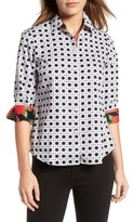 Foxcroft Petite Women's Wicker Print Shirt