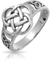 Bling Jewelry 925 Sterling Silver Celtic Knotwork Design Ring Free Engraving