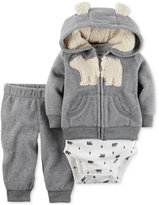 Carter's 2-Pc. Bear Hoodie, Bodysuit & Pants Set, Baby Boys (0-24 months)