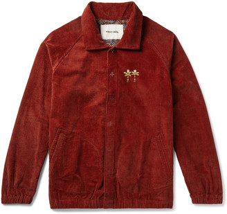 story. Mfg. Embroidered Organic Cotton-Corduroy Jacket