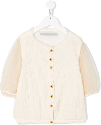Little Creative Factory Kids Sheer-Sleeve Shirt