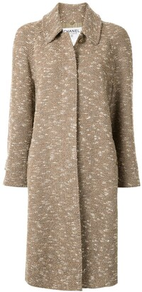 Chanel Pre Owned 1996 Loose Fit Tweed Coat