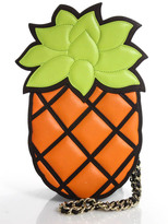 Moschino Multi-Color Leather Pineapple Shoulder Handbag