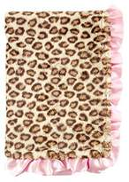 Hudson Baby Fur Blanket with Satin Ruffle, Leopard by