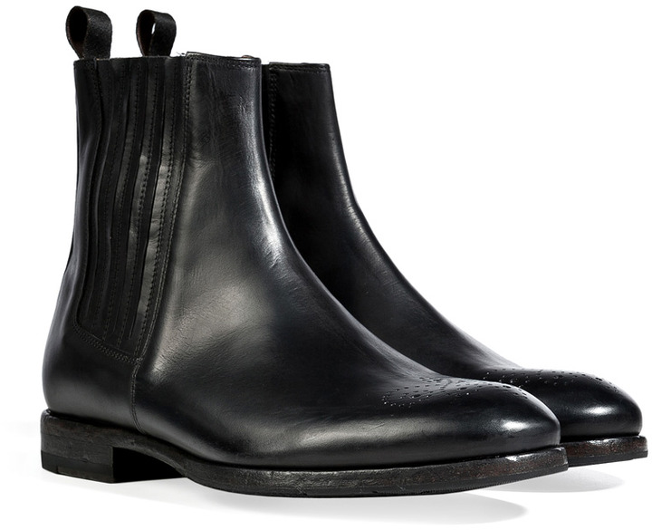 Paul Smith Shoes Leather Garrett Ankle Boots in Black