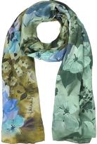 Laura Biagiotti Floral Print Twill Silk Stole