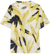 Marni Sequin-embellished Printed Cotton-jersey T-shirt - Yellow