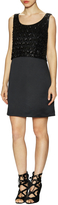Erin Fetherston Women's Sofia Sequin Overlay Sleeveless Dress