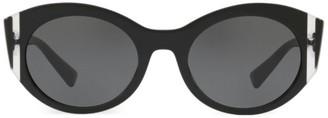 Valentino VA4039 Solid Black 53MM Round Sunglasses