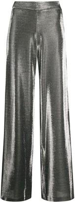 FEDERICA TOSI Metallic Wide-Leg Trousers