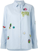 Mira Mikati patch work shirt - women - Cotton/Rayon - 38