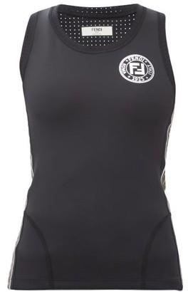 Fendi Ff Logo-trimmed Stretch-jersey Tank Top - Black