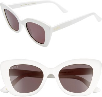 DIFF Raven 52mm Cat Eye Sunglasses