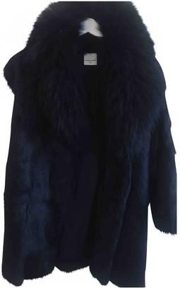 Laurence Dolige Black Rabbit Jacket for Women