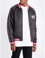 Billionaire Boys Club Reversible embroidered satin bomber jacket