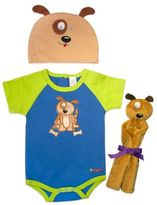 Sozo 3-Piece Puppy Welcome Home Gift Set in Blue/Green