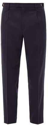 Barena Masco Cropped Wool-blend Trousers - Navy