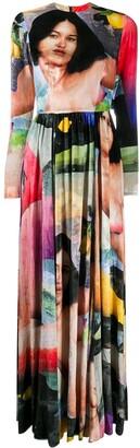 Edward Crutchley Graphic Print Silk Maxi Dress