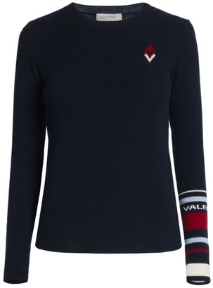 Valentino Maglia Wool & Cashmere Ribbed Top